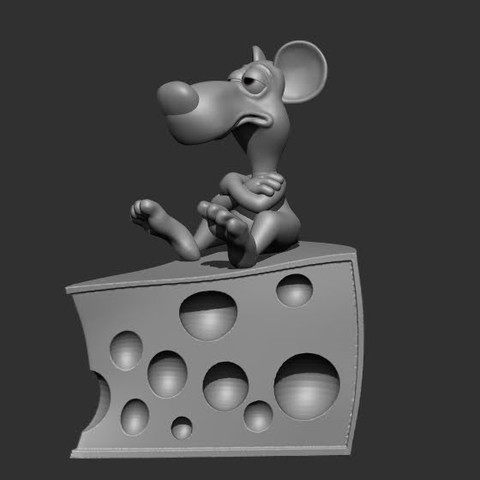 OPEFROM3.jpg Download OBJ file A rat on a cheese • Object to 3D print, didoff