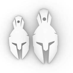 Spartan 2.JPG Download free STL file Spartan Helmet Pendant • Template to 3D print, josephkey