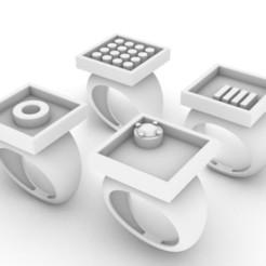 Squares.JPG Télécharger fichier STL Collection Carrés • Modèle à imprimer en 3D, josephkey