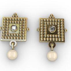 Download 3D printing templates Pearl Earring 2, josephkey