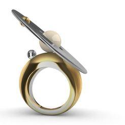 Pearl Saturn.JPG Télécharger fichier STL Bague perle Saturne • Objet imprimable en 3D, josephkey