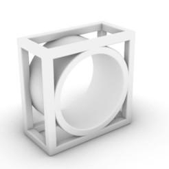 Square 4 a.JPG Télécharger fichier STL Bagues carrées #4 • Plan imprimable en 3D, josephkey