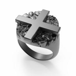 untitled.334.png Télécharger fichier STL L'anneau croisé • Design à imprimer en 3D, josephkey