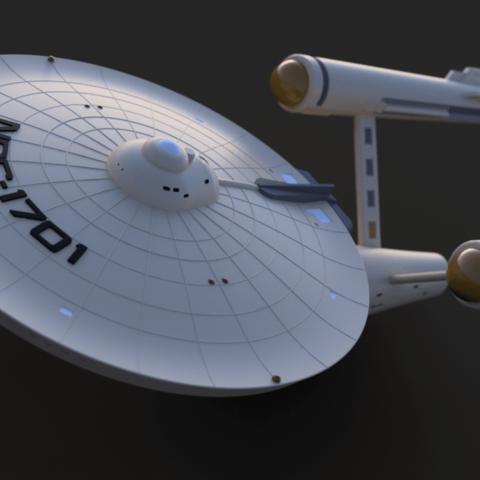 uss enterprise v18.png Download free STL file Star Trek USS Enterprise NCC 1701 • 3D printing object, Dsk