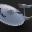 Download free 3D printer designs Star Trek USS Enterprise NCC 1701, Dsk