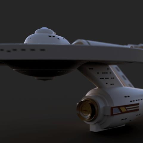 uss enterprise v18 1.png Download free STL file Star Trek USS Enterprise NCC 1701 • 3D printing object, Dsk