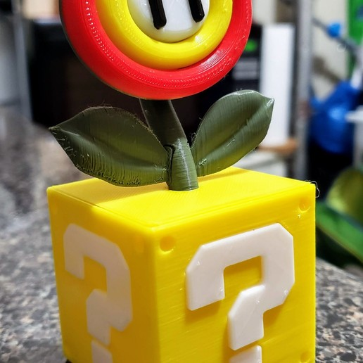 20190402_192740.jpg Download free STL file Super Mario Fire or Ice Flower with Switch card storage • 3D printing design, Dsk