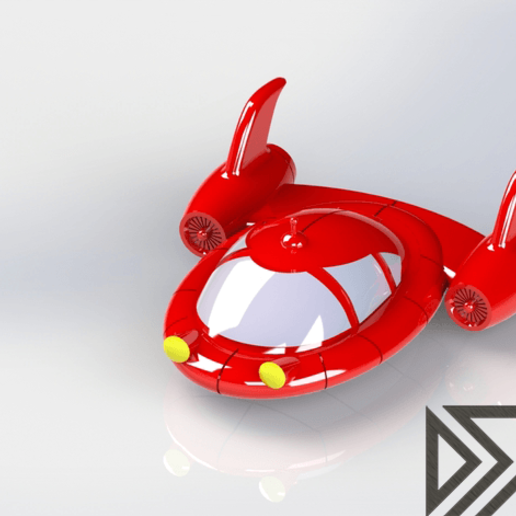Pat_Pat_Rocket_Render.png Download free STL file Little Einsteins Pat Pat Rocket • 3D printable object, Dsk