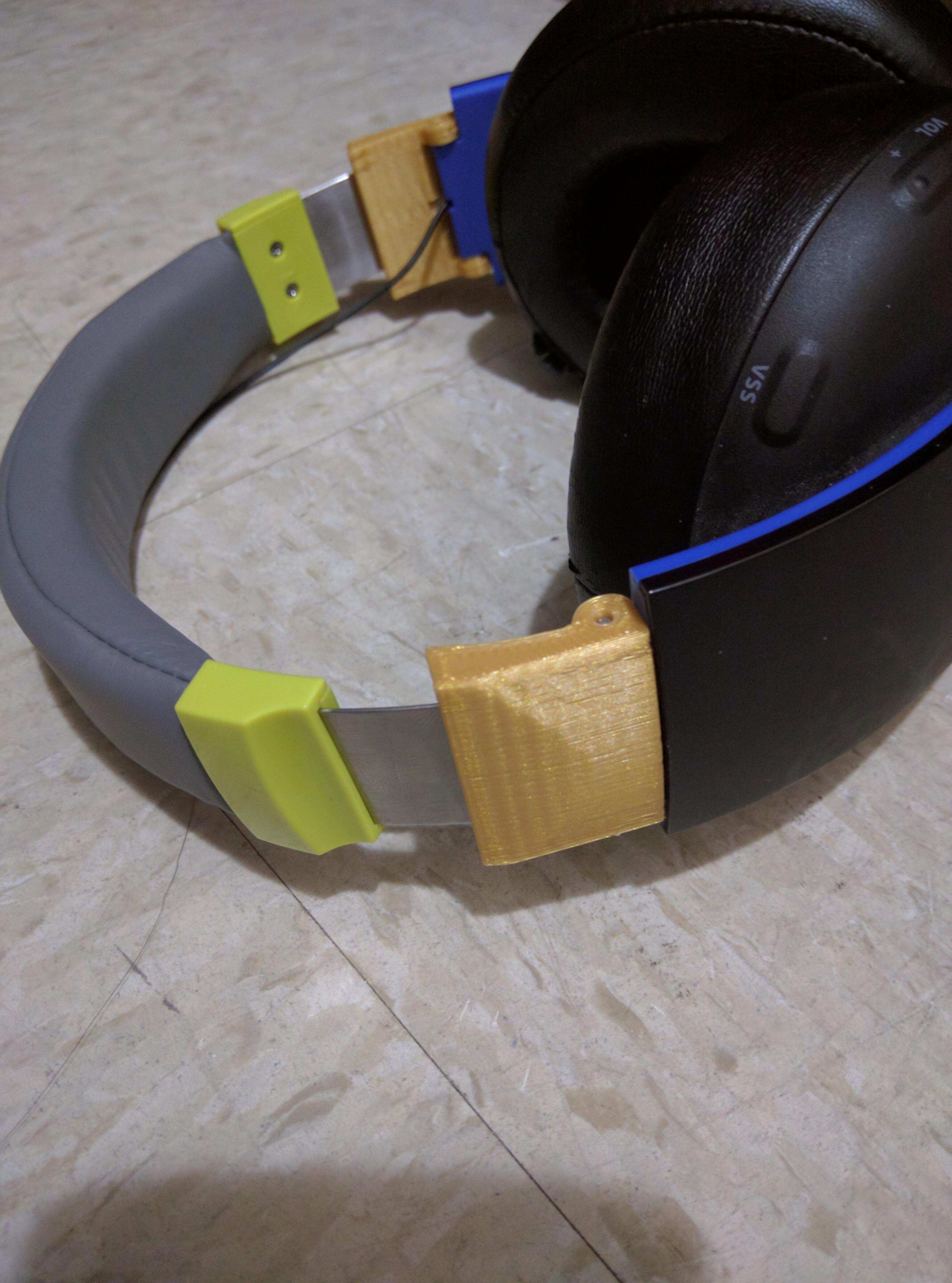 IMG_20161020_020459.jpg Télécharger fichier STL gratuit Charnière de rechange pour casque sans fil Sony Gold Gold • Plan imprimable en 3D, Dsk
