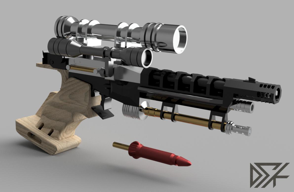 S5_v20.png Download free STL file Star Wars Naboo S5 Heavy Blaster Pistol • 3D printing design, Dsk