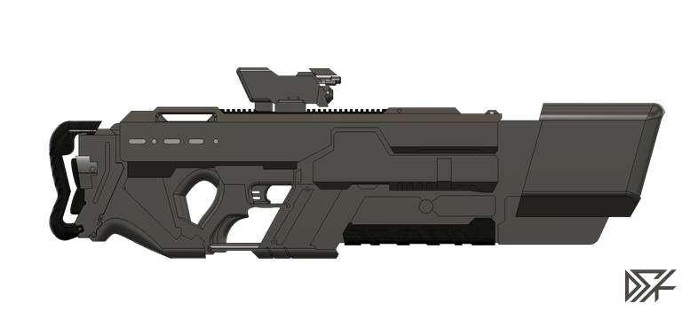 Khan_Riifle_v7.png Download free STL file Khan Rifle Concept from Marvels The Exiles • 3D print design, Dsk