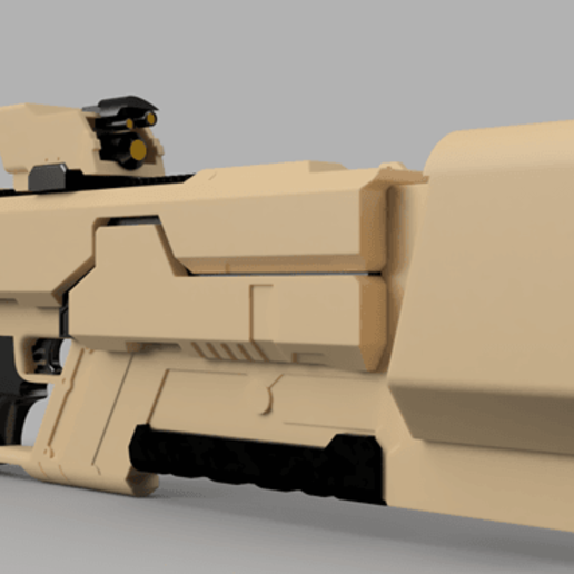 Khan_Riifle_v9-1.png Download free STL file Khan Rifle Concept from Marvels The Exiles • 3D print design, Dsk