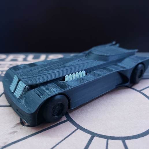 20200325_174636.jpg Download free STL file Mini Batman Animated Series Batmobile • 3D printable template, Dsk