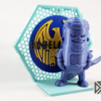Download free STL file Backdrop for Wexagon - Hexagon Shelfs Vol 1 - Homelander, Batman, 3DPN, 3DMN • 3D printable object, Dsk