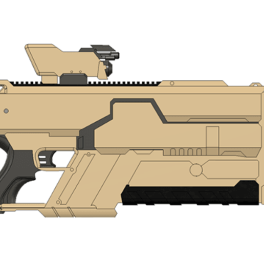 Khan_Riifle_v9.png Download free STL file Khan Rifle Concept from Marvels The Exiles • 3D print design, Dsk