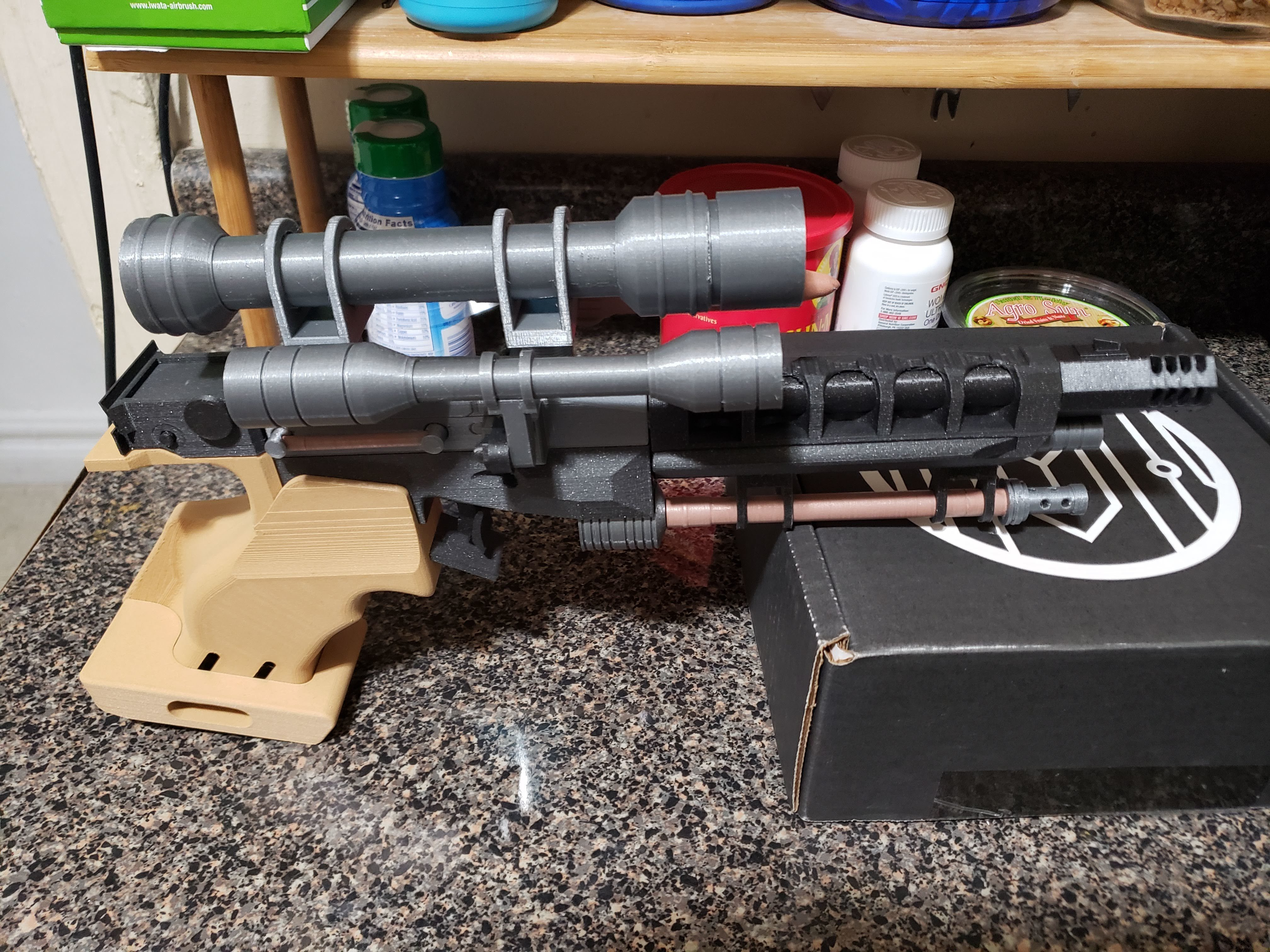 20190205_234631.jpg Download free STL file Star Wars Naboo S5 Heavy Blaster Pistol • 3D printing design, Dsk