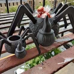 Spider_Bowl_-_Copy.jpg Télécharger fichier STL gratuit Bol Spider • Design pour impression 3D, Dsk