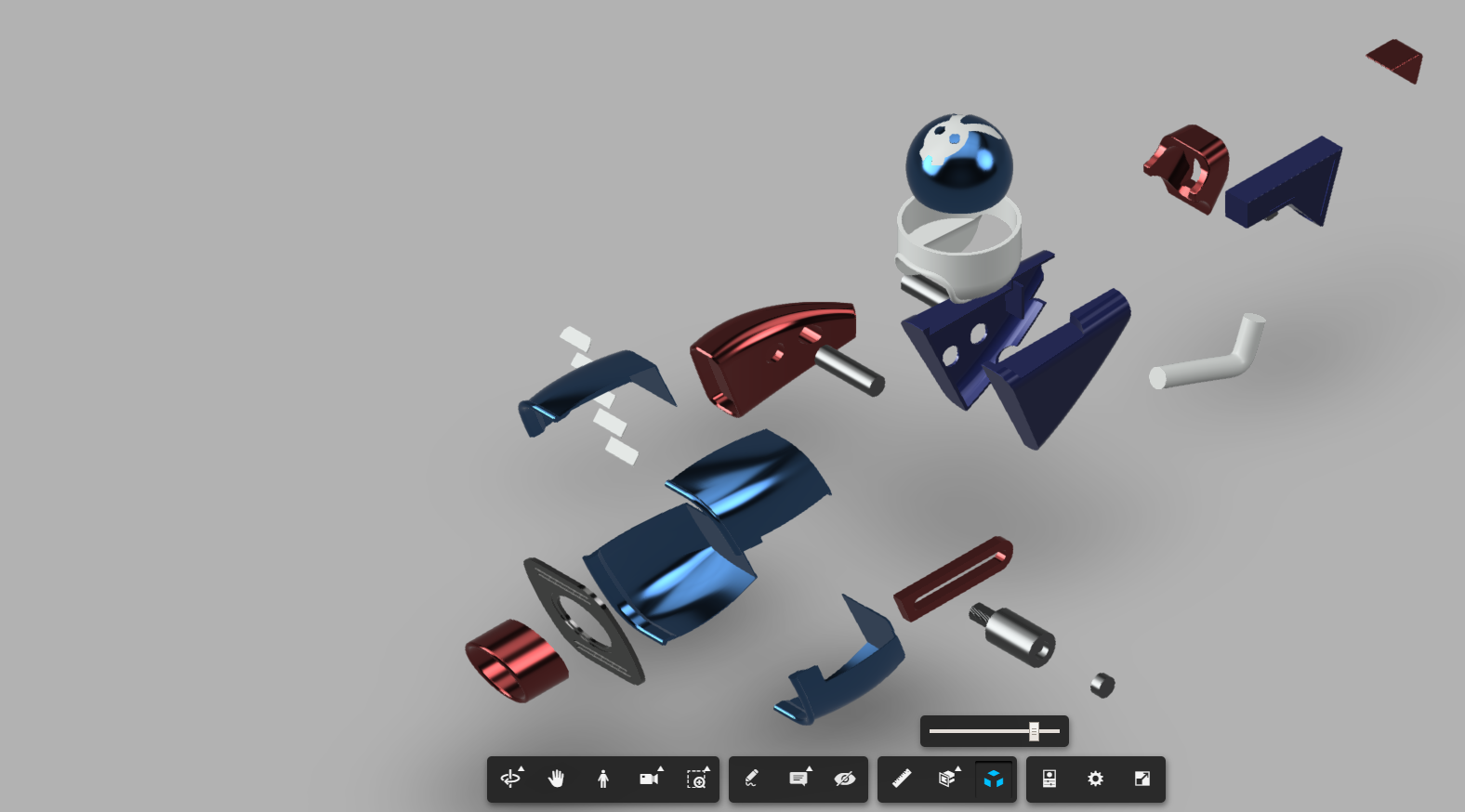 Exploded_View.png Télécharger fichier STL gratuit Mario + Lapins Crétins - Plumer's Helper Boomshot • Modèle pour impression 3D, Dsk