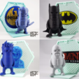 Télécharger plan imprimante 3D gatuit Toile de fond pour Wexagon - Hexagon Shelfs Vol 1 - Homelander, Batman, 3DPN, 3DMN, Dsk