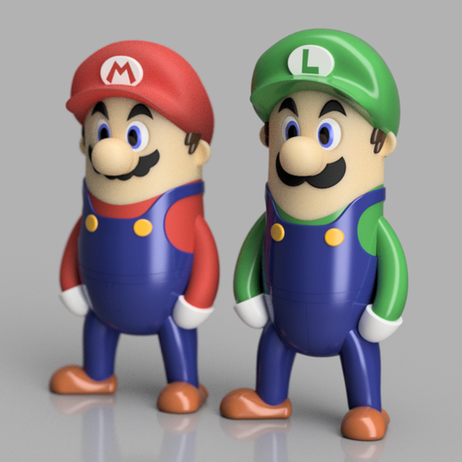 2019-12-21_13-20-48.png Download free STL file Mario Bros Minis w/ MMU • 3D print object, Dsk