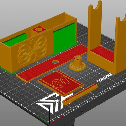 PO.png Download free SCAD file Perpetual Flip Calendar (W/ Customizable Font) • 3D printable model, Dsk