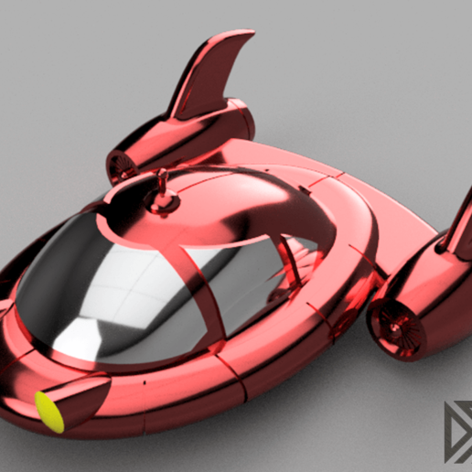 Pat_Pat_Rocket_Render_2.png Download free STL file Little Einsteins Pat Pat Rocket • 3D printable object, Dsk