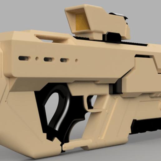 Khan_Riifle_v9-2.png Download free STL file Khan Rifle Concept from Marvels The Exiles • 3D print design, Dsk