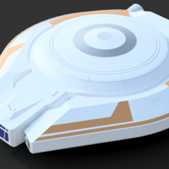 Download free STL files Lost In Space Jupiter Spaceship - Multicolor, Dsk