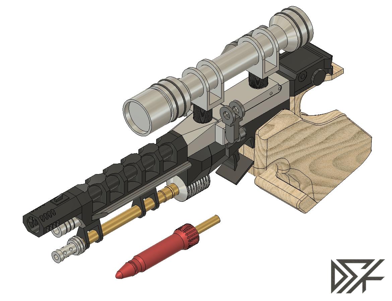 S5.png Download free STL file Star Wars Naboo S5 Heavy Blaster Pistol • 3D printing design, Dsk