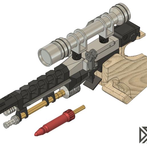 S5.png Télécharger fichier STL gratuit Pistolet Star Wars Naboo S5 Heavy Blaster • Objet pour impression 3D, Dsk