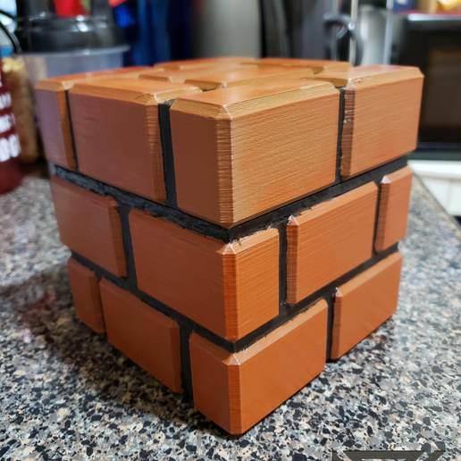 Download free 3D printer designs Mario Brick Piggy Bank, Dsk