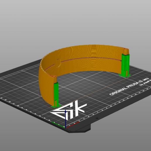 Print Orientation.png Télécharger fichier STL gratuit Serre-tête de remplacement Sony Gold Wireless Heaset • Design pour imprimante 3D, Dsk