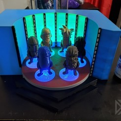 Download free 3D print files Star Trek Transporter Diorama for Mini Figures, Dsk