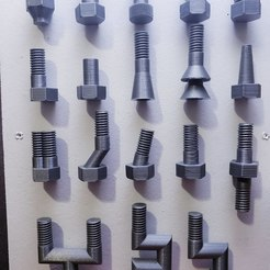 Download STL file Specialty Bolts - Step File • 3D printing design, Dsk
