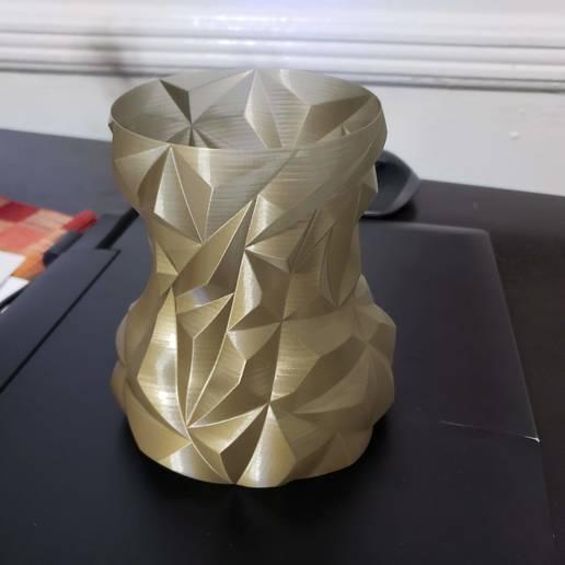 20190913_174637.jpg Télécharger fichier STL gratuit Vase à facettes arrondies • Plan pour impression 3D, Dsk