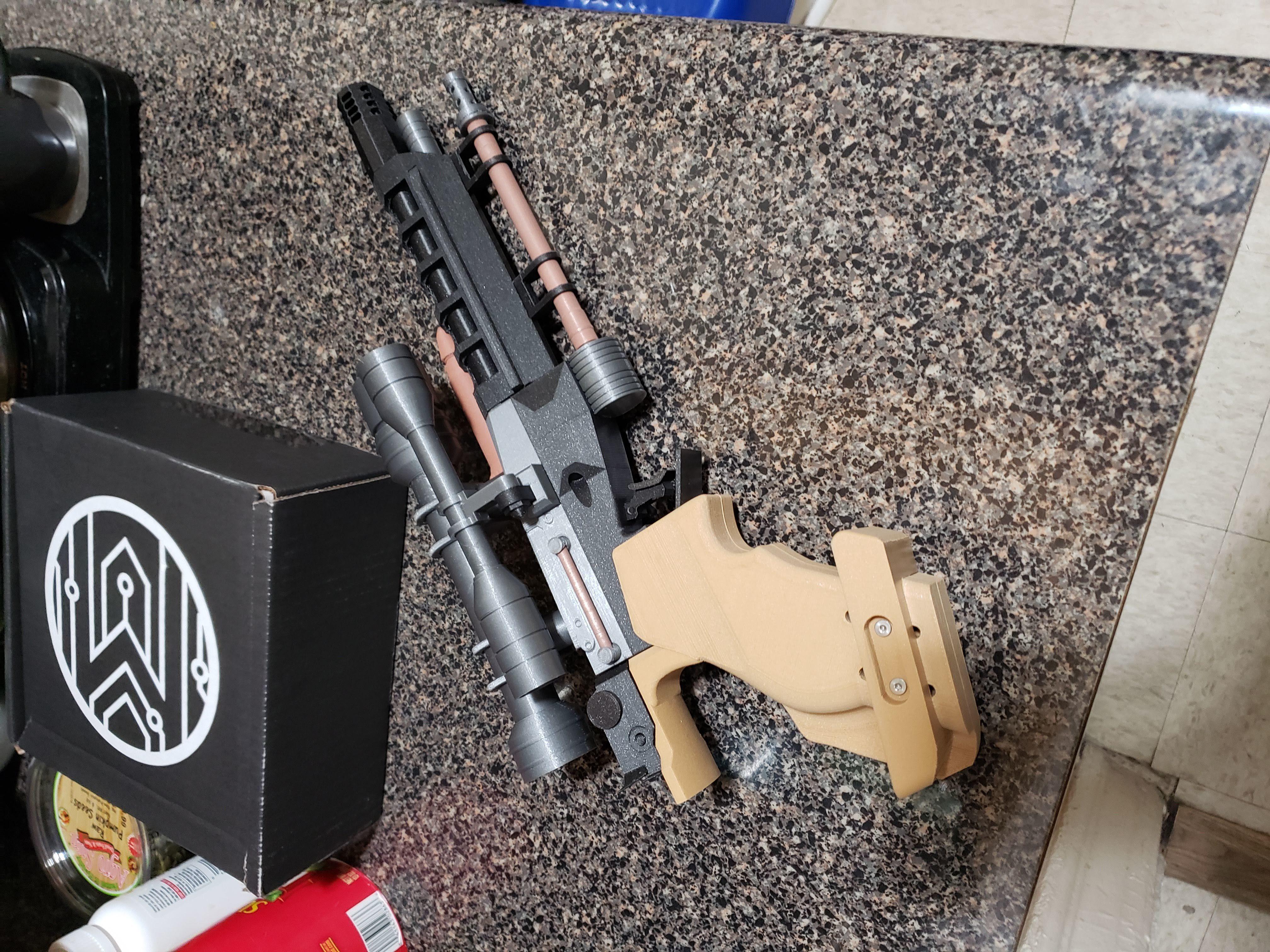 20190205_232653.jpg Download free STL file Star Wars Naboo S5 Heavy Blaster Pistol • 3D printing design, Dsk