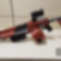 Barell_BR_Back.stl Download free STL file Borderlands Bandit Room Clener Shotgun • 3D printer object, Dsk