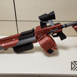Add_Watermark20191008081223.png Download free STL file Borderlands Bandit Room Clener Shotgun • 3D printer object, Dsk