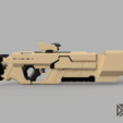 Khan_Riifle_v9_3.png Download free STL file Khan Rifle Concept from Marvels The Exiles • 3D print design, Dsk