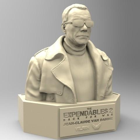 03.jpg Download STL file NAUGHTY JEAN CLAUDE VAN DAMME • 3D printable template, thierry3D