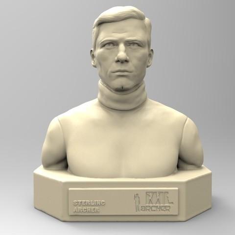 Download STL file STERLING ARCHER • 3D print design, thierry3D