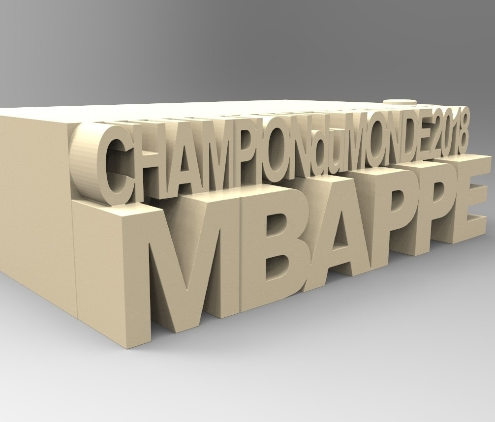 09.jpg Download STL file MBAPPE BASE • 3D printing template, thierry3D