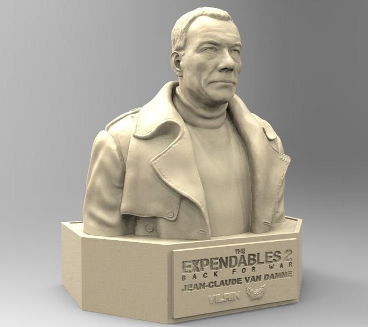01.jpg Download STL file NAUGHTY JEAN CLAUDE VAN DAMME • 3D printable template, thierry3D