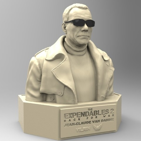 05.jpg Download STL file NAUGHTY JEAN CLAUDE VAN DAMME • 3D printable template, thierry3D