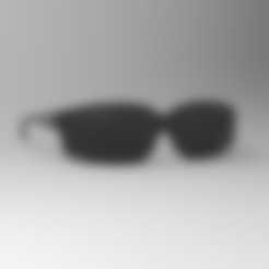 Lunettes.stl Download STL file BLACK GLASSES FOR JEAN CLAUDE VAN DAMME EXPENDABLE • 3D printable model, thierry3D