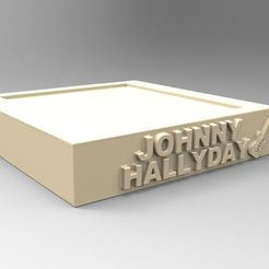 Free STL NEW MODEL BASE JOHNNY HALLYDAY A GUITAR, thierry3D