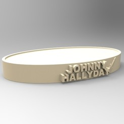 Free STL files NEW MODEL OVAL BASE JOHNNY HALLYDAY A GUITAR, thierry3D