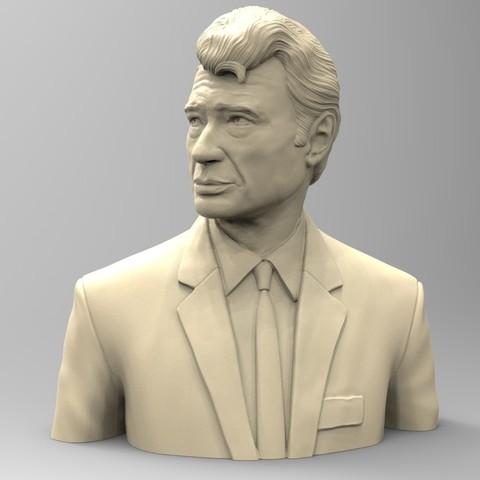 3D print files JOHNNY HALLYDAY, thierry3D