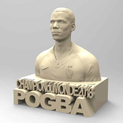 01.jpg Download STL file PAUL POGBA • Object to 3D print, thierry3D
