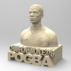 stl files PAUL POGBA, thierry3D